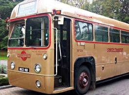 Vintage bus for wedding hire in Redhill